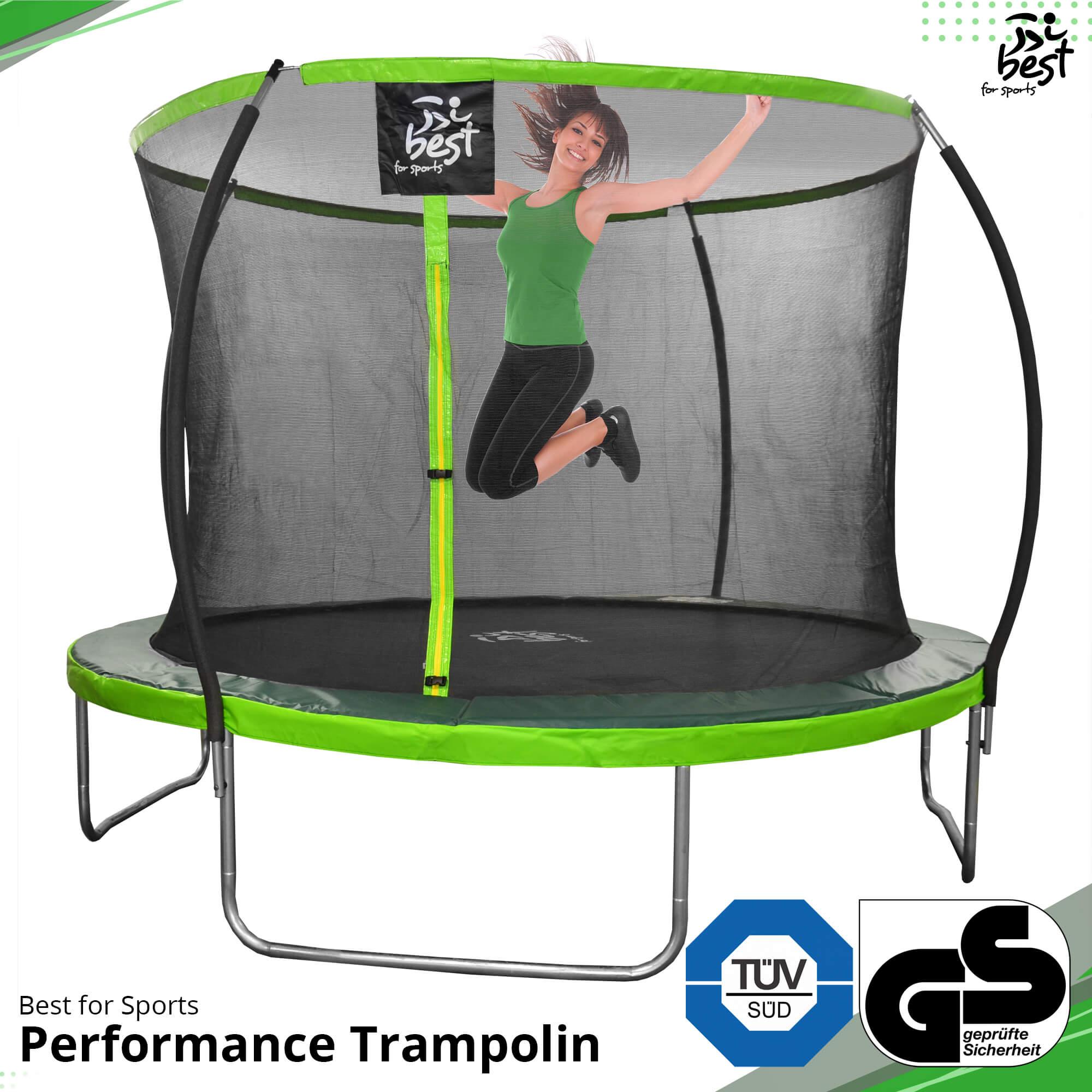 Trampolin Outdoor Gartentrampolin Komplettset Leiter 18 244 305 366 427 Cm Top Ebay